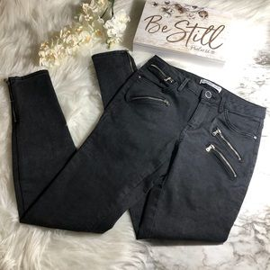 Zara Basic Jeans Black Zipper Ankle Skinny, Size 4